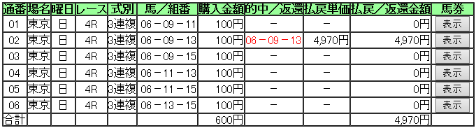 東京4R 2月8日