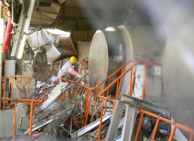 福島第1原発・乾式貯蔵施設(11年3月・修整後)