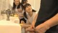 トイレの天使達~好奇心旺盛にちんぽ観察するJS3人組~