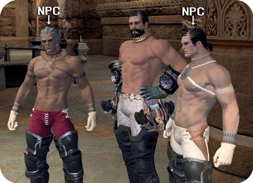 NPCのハイランダーと並ぶ