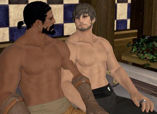 半裸のハイランダー二人3