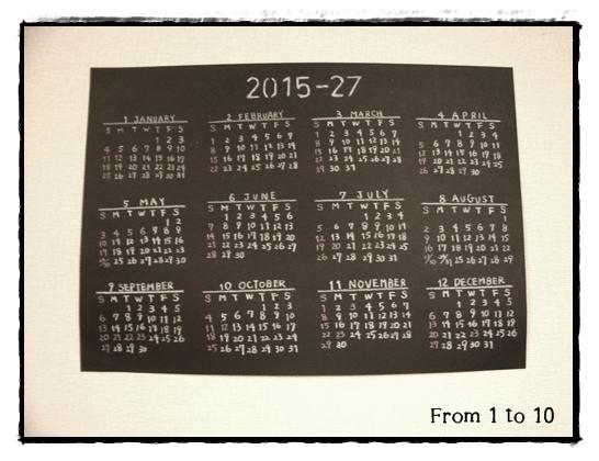 2015calendar③