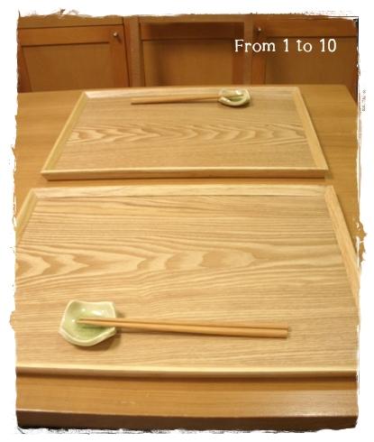 木製羽反トレイ②