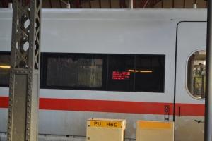ドイツ行きの列車