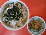 お茶漬けセット(おっ!うめぇジャンと肉入り・味噌野カツオ)@一品香