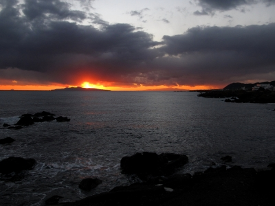 野島崎にて夕日