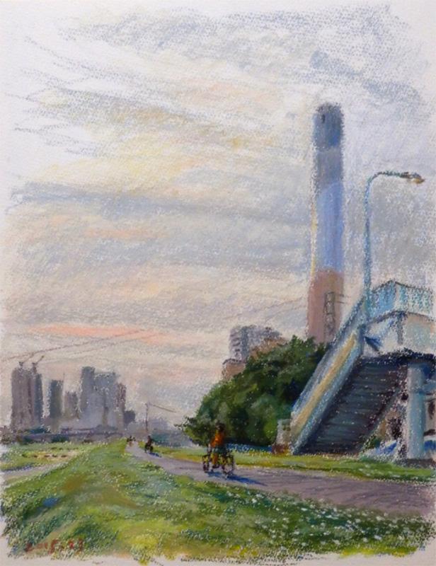 煙突とクローバー