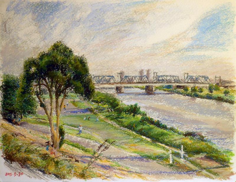 川に架かる鉄橋