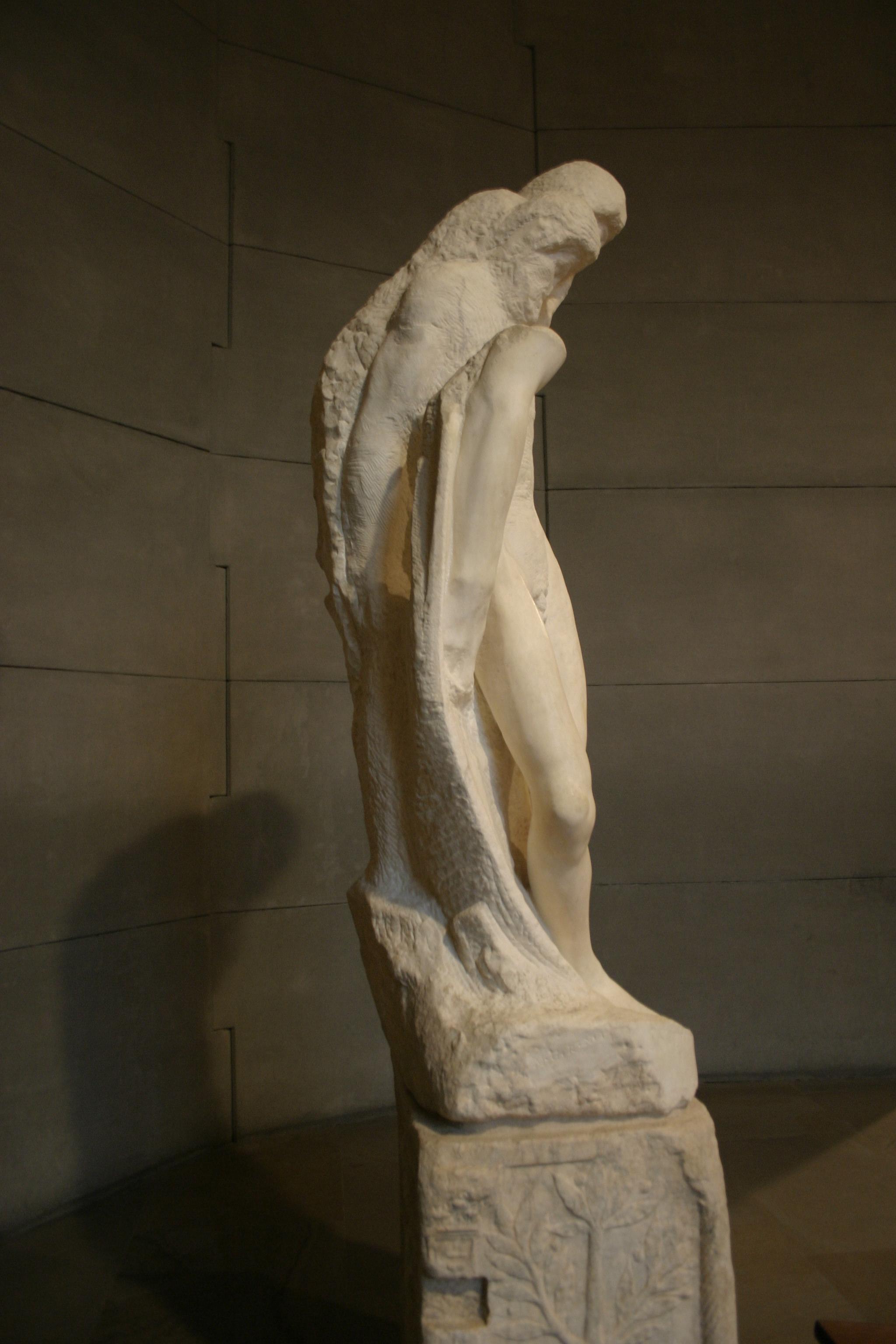Milano_-_Castello_sforzesco_-_Michelangelo,_Pietà_Rondanini_by_Michelangelo_(1564)_-_Foto_Giovanni_DallOrto,_6-jan-2006_-_09