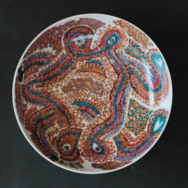 色絵鉢「巨魁」