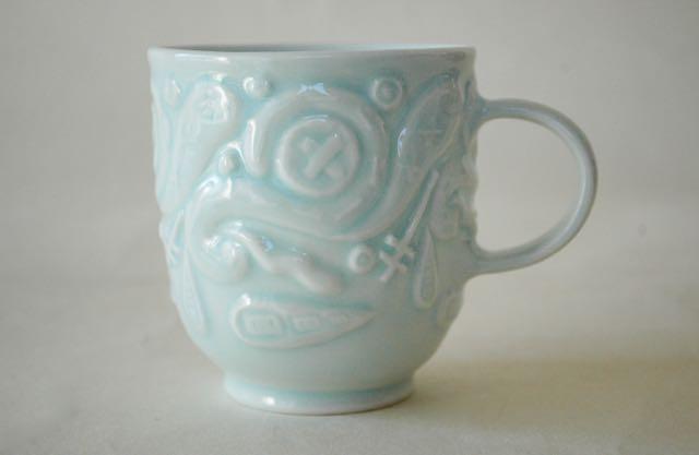 青白磁マグカップ