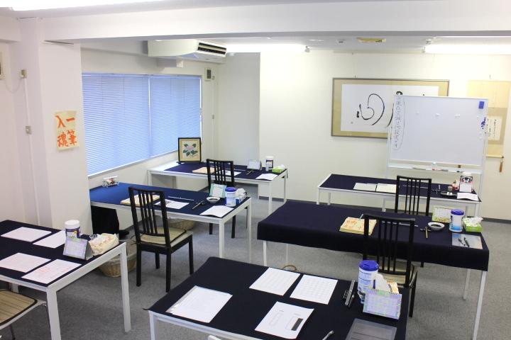 書道教室 東京銀座 2015年6月17日(水)の教室風景