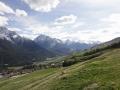 山から西側の景色