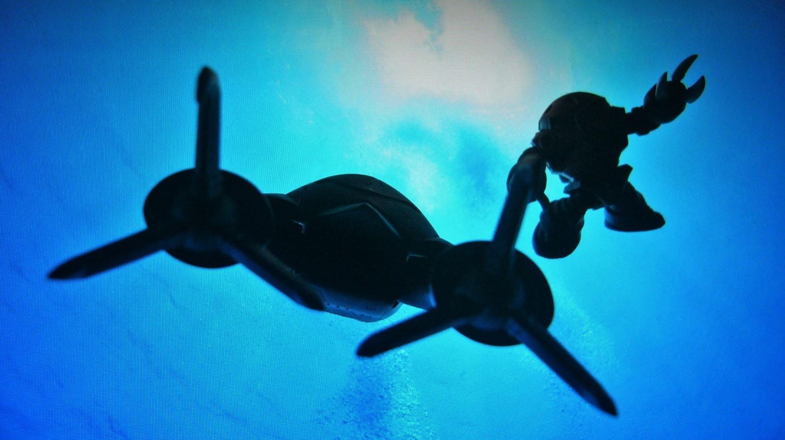SDガンダム underwater ガシャポン戦士DASH ガシャポン戦士NEXT  実写 水中 デジラマ ズゴック アッガイ グラブロ ゴック 水中での行動が可能な水陸両用MS