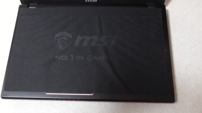 msi製ノートパソコンのレビュー5-170