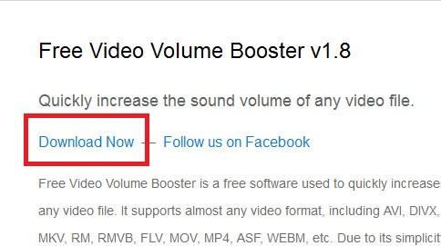 ソフトFree Video Volume Booster-37-627