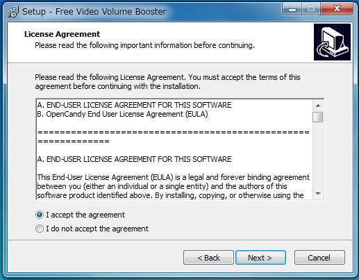 ソフトFree Video Volume Booster-661