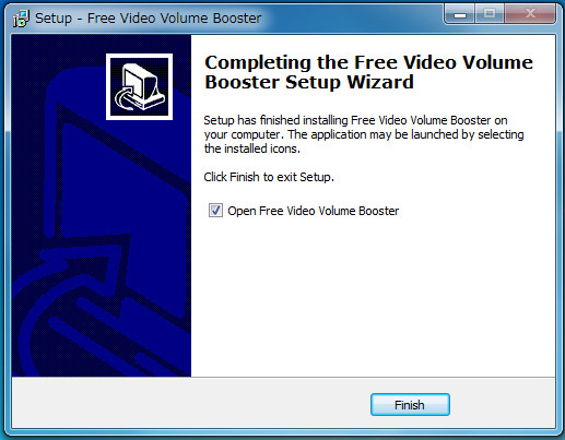 bソフトFree Video Volume Booster05-39-737