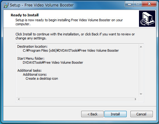 bソフトFree Video Volume Booster5-10-315