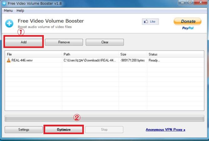 ソフトFree Video Volume Booster6-59-539