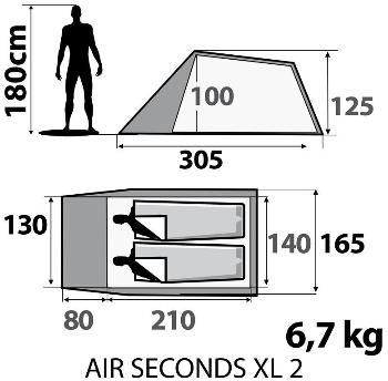 Quechua(ケシュア) AIR SECONDS XL 2 エアポールテント