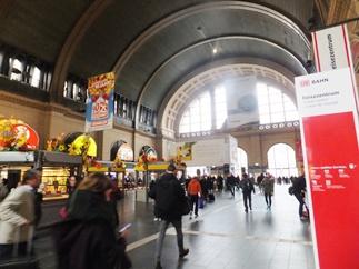 フランクフルト中央駅内部