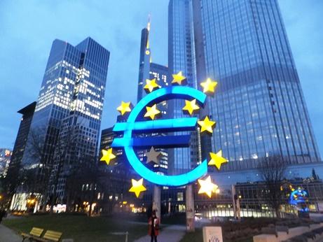 欧州の心臓、フランクフルトの欧州中央銀行
