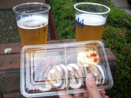 ビール&いか焼き