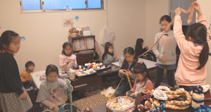 編み物1501作業風景