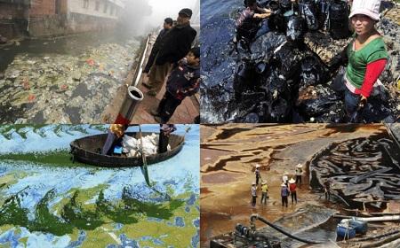 川の汚染が深刻なレベル~