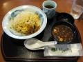 蟹チャーハンと赤出汁の味噌汁@はるのの湯
