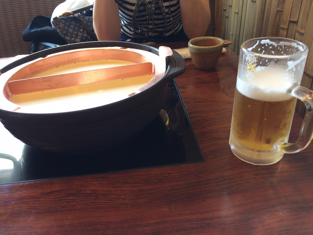 ビール、ゆば