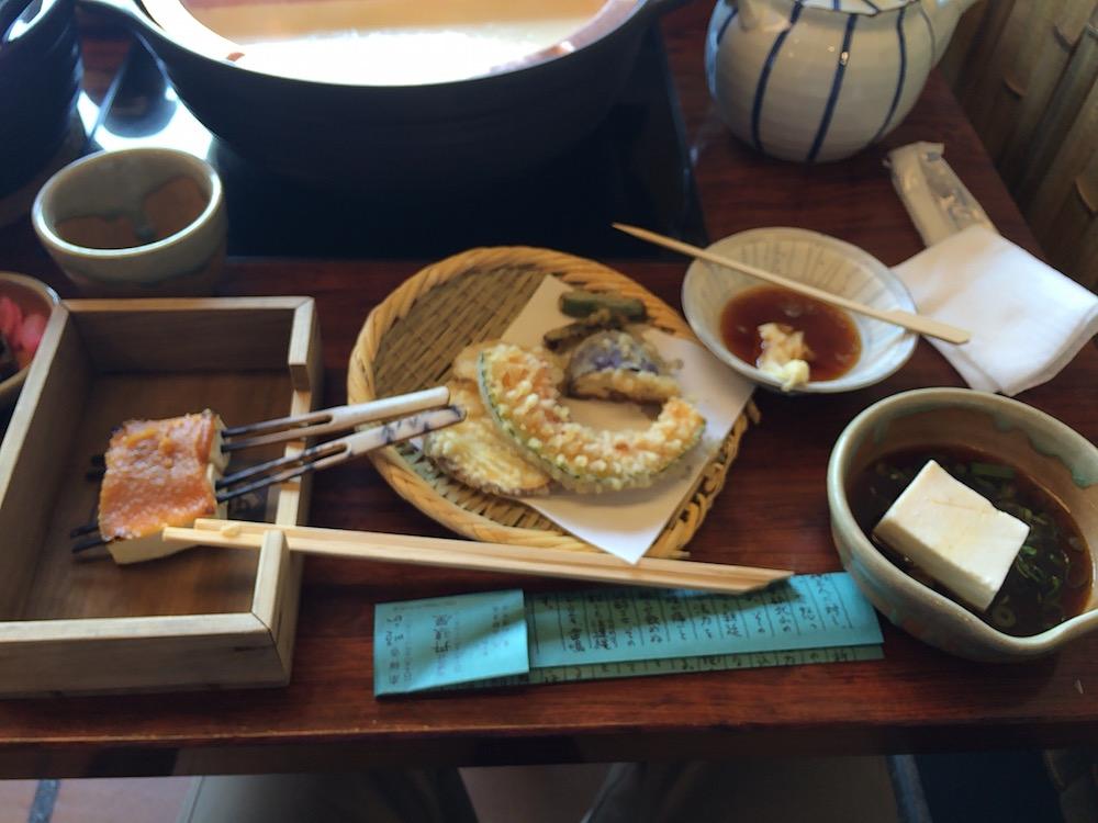 田楽、天ぷら