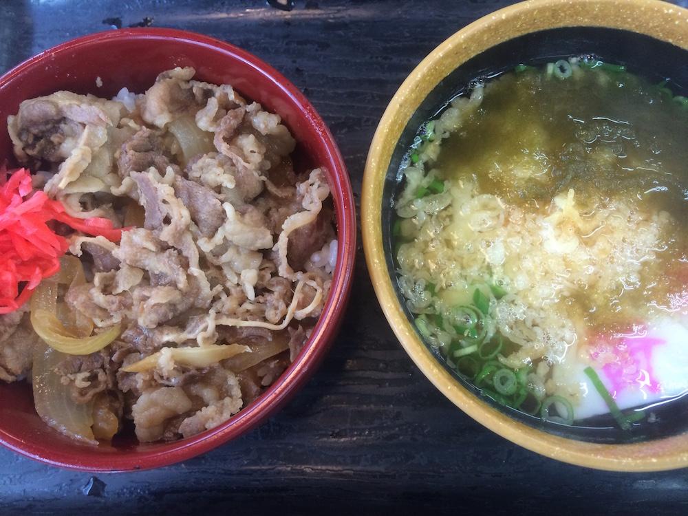牛丼&ミニうどん
