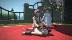 リテ子さんとひなたぼっこ