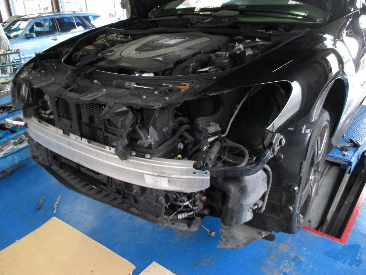フェラーリF458スパイダー ナビ出張取外・マーチ F/Rスピーカー取付・CL63 ヘッドライト修理 - 各種修理 ...