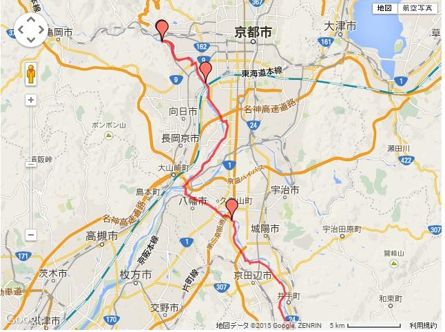 220150211嵐山ライドルート