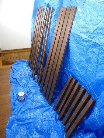 鉢置き台ペンキ塗り3