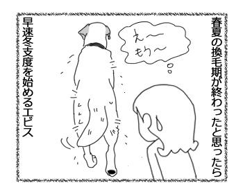 羊の国のラブラドール絵日記シニア!!「抜け毛の季節」1