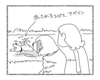 羊の国のラブラドール絵日記シニア!!「水を得すぎたラブラドール」6
