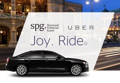 タクシーアプリUberとSPGが提携