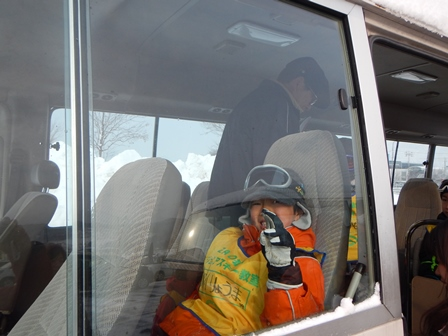 スキーに送り