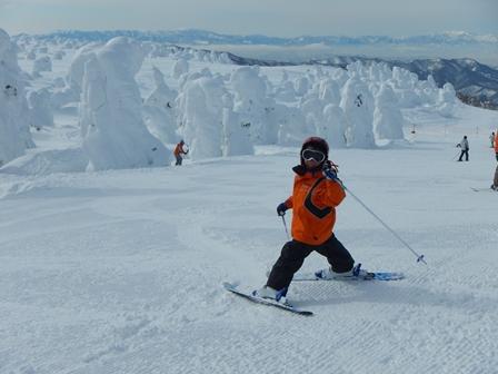 すっかりスキーに
