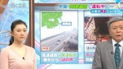 菊川怜ミニスカニットセーター乳画像5