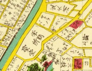 安政江戸図 安政6年(1859)