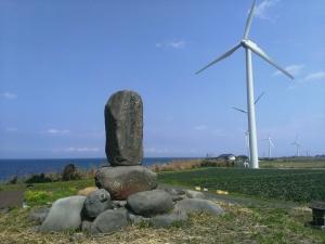 隠岐の神塚近くの風力発電機
