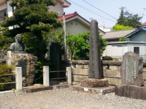 近藤勇像と碑