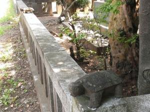 福沢家墓所の塀