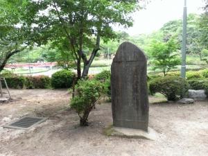 岩槻城跡の碑
