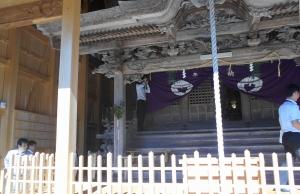 春日人神社 文化庁調査 20150604 1
